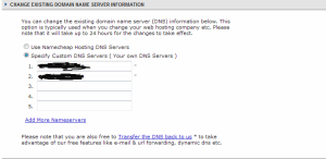 Domain Name Server Setup